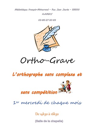 Affiche Ortho'grave